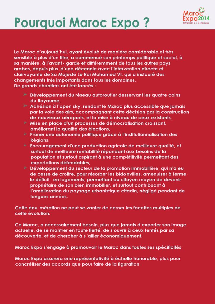 Dossier PResse Maroc Expo Mai 2014