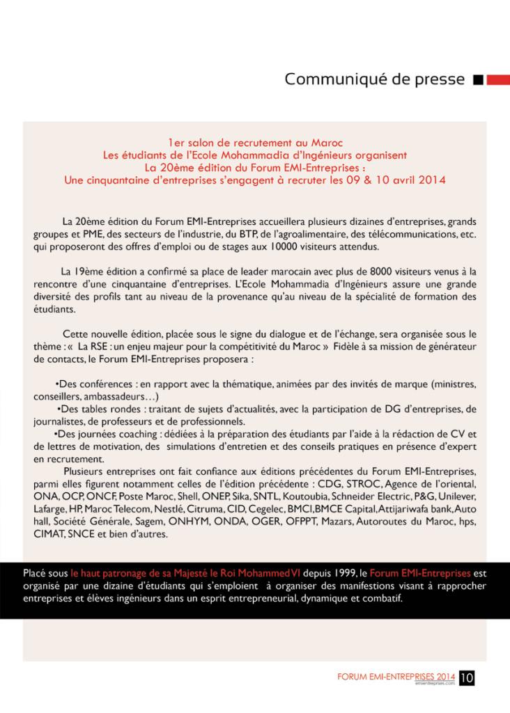 Dossier de Presse FORUM EMI-ENTREPRISES 2014 (1)-13