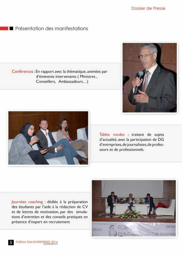 Dossier de Presse FORUM EMI-ENTREPRISES 2014 (1)-8