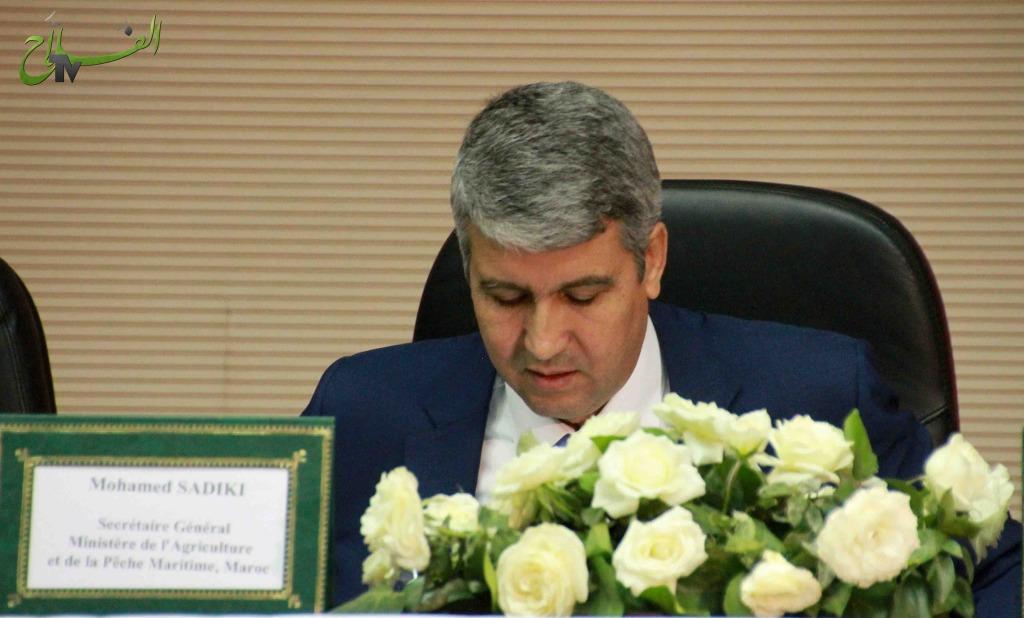 الكاتب العام لوزارة الفلاحة و الصيد البحري السيد محمد صادقي