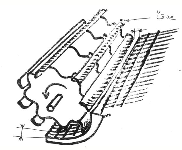الرسم 3: جهاز الدّرس ( الدراس و الجُرن)
