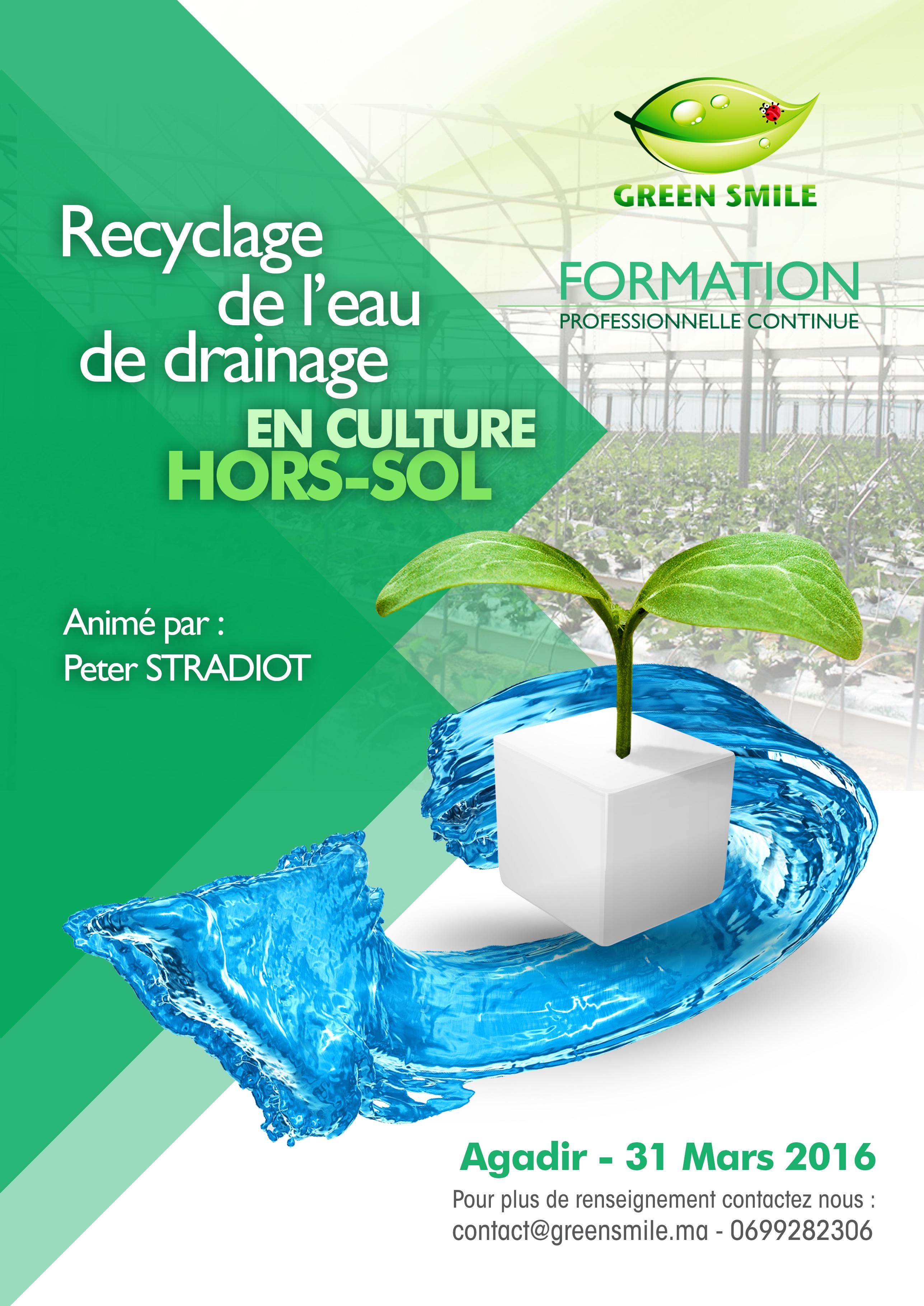 formation recyclage de l eau en culture hors sol affiche 2016-2